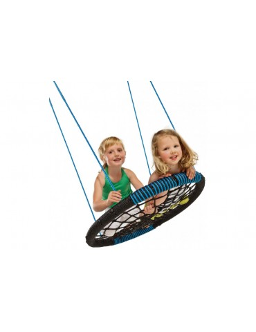 Nest Swing 'Oval' with adjustable Ropes  (sensory swing) - Black/Blue