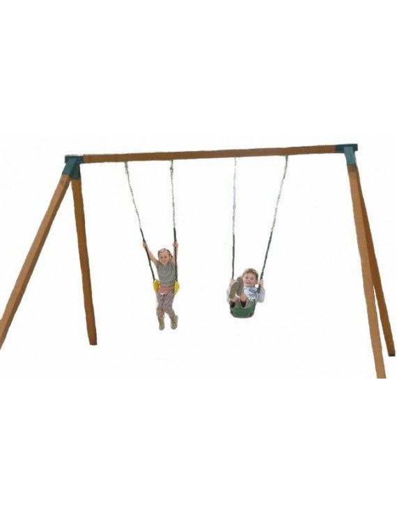 Swing frame double treated pne posts 90 x 90 steel corners for Swing set supports