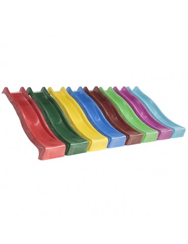 Plastic Slide for 1.5 metre high deck RED Slide    (3.0m) with WATER ATTACHMENT