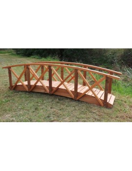 Bridge Garden 3600 x 600 with handrails for Preschool