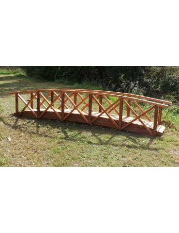 Bridge Garden 4200 x 600 with handrails for Preschool