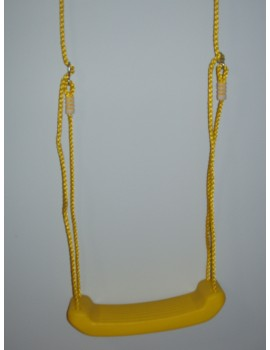 Hollow Moulded Swing Seat YELLOW  Yellow Ropes