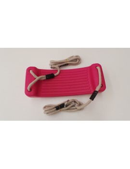 Blow Moulded Swing Seat PINK With  Ropes