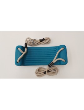 Blow Moulded Swing Seat AQUA With Ropes