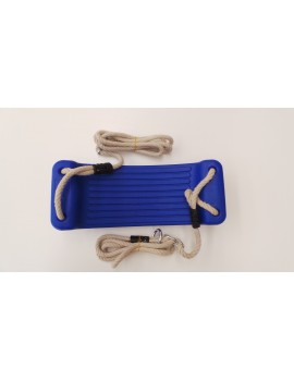 Blow Moulded Swing Seat BLUE With Ropes