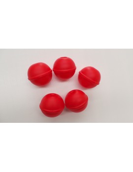 5 Plastic Abacus Balls RED