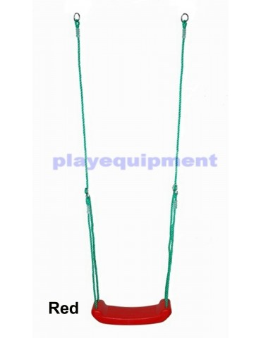 Hollow Moulded Swing Seat RED Green Ropes