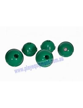 5 Plastic Abacus Balls GREEN