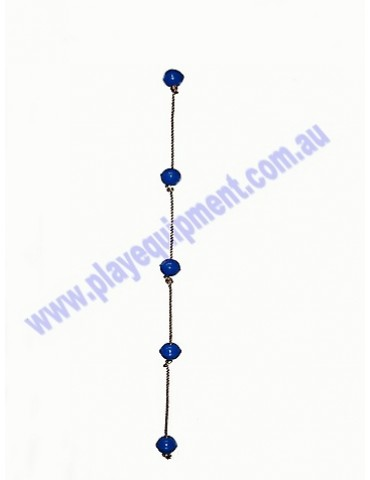 Ball Rope with 5 BLUE abacus balls
