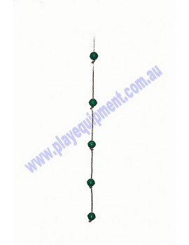 Ball Rope with 5 GREEN abacus balls