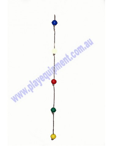 Ball Rope with 5 MULTICOLOURED abacus balls