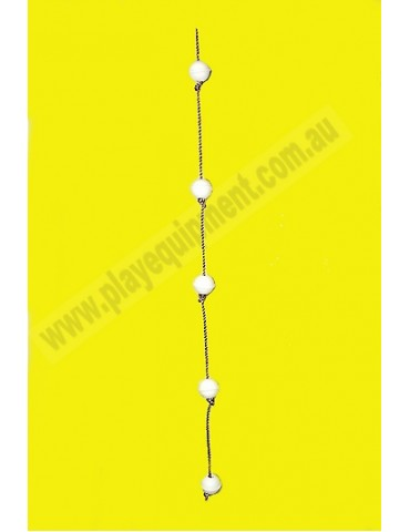 Ball Rope with 5 WHITE abacus balls