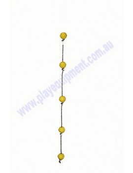 Ball Rope with 5 YELLOW abacus balls