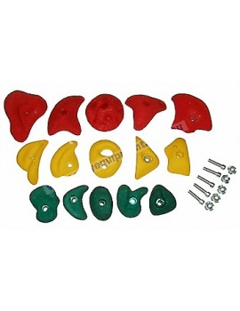 Assort Climbing stones 5 pcs small, 5 pcs med,5 pcs large
