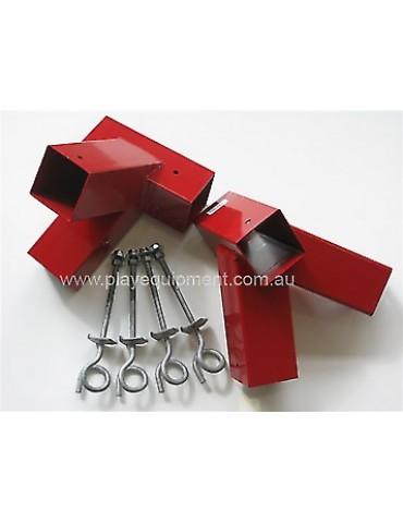 DIY Double Swing Set - Red