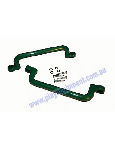 Long Plastic Handle Grip GREEN 32 cm