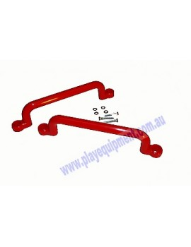 Long Plastic Handle Grip RED 32 cm