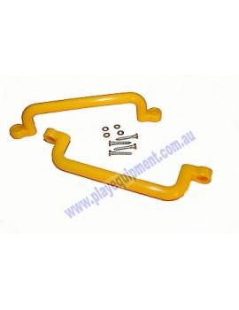 Long Plastic Handle Grip YELLOW 32 cm