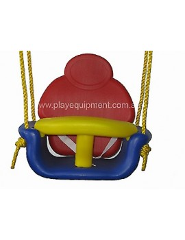 Modular RED/YELLOW/BLUE Infant/Baby Swing with Ropes