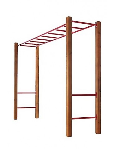 Monkey Bar Set with Step Rails GREEN & Cypress Posts