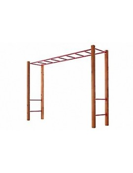 Monkey Bar set with Step Rails RED & Cypress posts