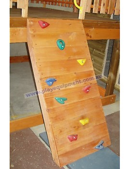 Rock Climbing Wall Stained