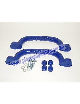 Short Plastic Handle Grip BLUE 23 cm Pair