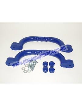 Short Plastic Handle Grip BLUE 23 cm Pair