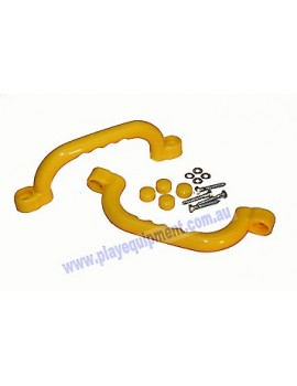 Short Plastic Handle Grip YELLOW 23 cm pair