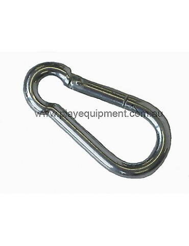 Snap Hook 8 mm white galvanized