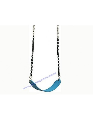 Strap Seat Heavy Duty BLUE & Plastic Coated Chains