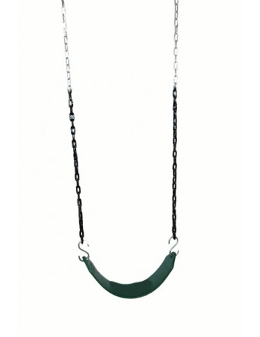 Strap Seat Heavy Duty GREEN & Plastic Coated Chains