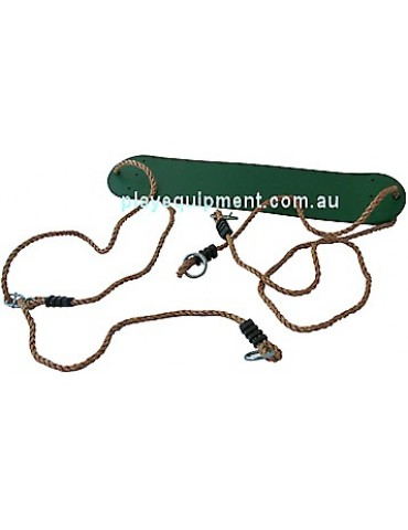 Strap Seat Heavy Duty GREEN with Adjustable Ropes