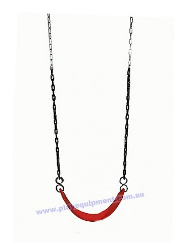 Strap Seat Heavy Duty RED & Plastic Coated Chains