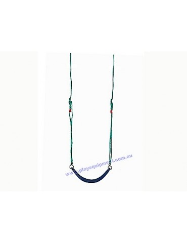 Strap Seat Moulded Ribbed BLUE with Adjustable Ropes