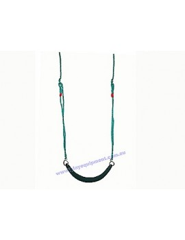 Strap Seat Moulded Ribbed GREEN with Adjustable Ropes