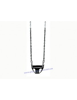 Half Bucket Infant Swing Seat Commercial &  Black Plastic Coated Chains