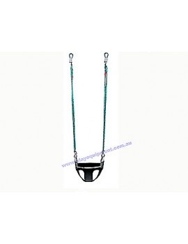 Half Bucket Infant Swing Seat Commercial Adjustable Ropes