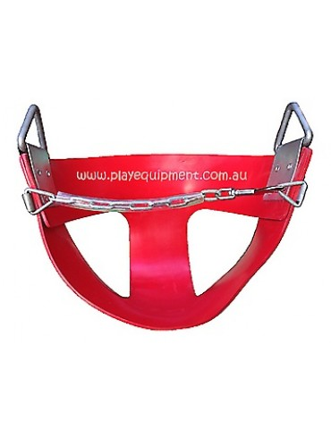 Half Bucket SOFT RUBBER Infant Swing Seat RED