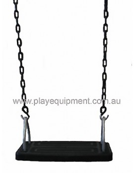Medium Safety Seat Commercial & Green Plastic Coated Chains