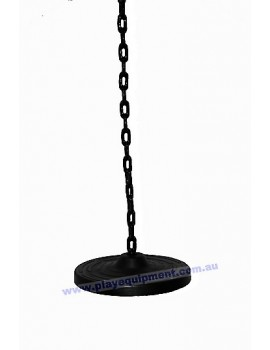 Flat Round Pommel Swing Seat With Plastic Coated Chain