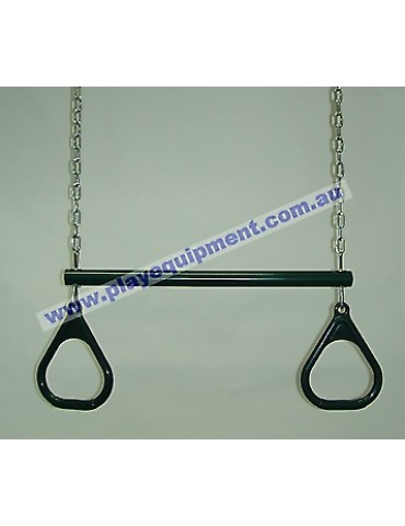 Trapeze Bar with Triangle Grips and Chains GREEN