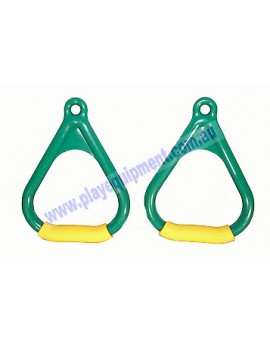 Triangle Delta Handle Soft Grips GREEN/YELLOW