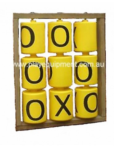 Yellow Spinners with Black X & O mounted into a Treated Pine frame