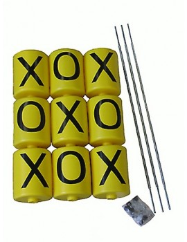 Yellow Spinners with Black X & O with rods