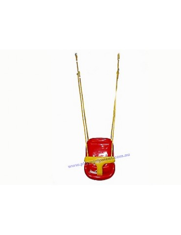 Modular RED/YELLOW Infant/Baby Swing with Ropes