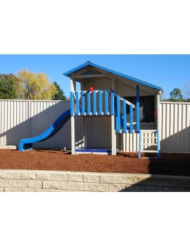 Cubby House Dual Cubbies Blue Tongue