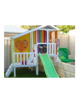 Cubby House Dual Cubbies Rainbow Tree